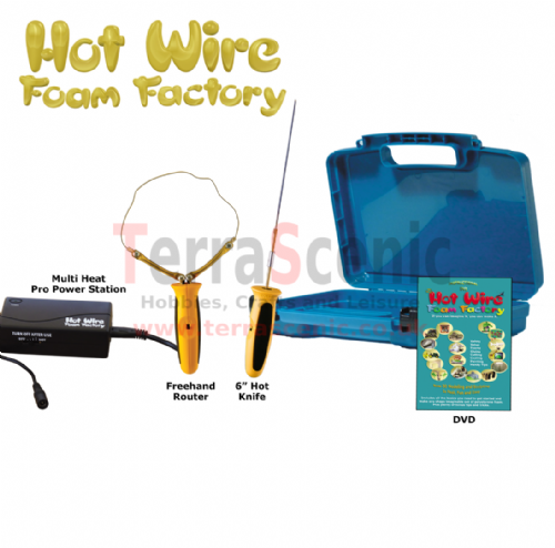 Polystyrene Cutter 2in1 6inch Hot Knife and Freehand Router Pro Kit Hot Wire Foam Factory